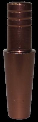 Schlauch-Anschlussstück (Alu) - Braun
