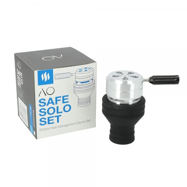 AO Safe Solo Silikon Set Blau/Schwarz