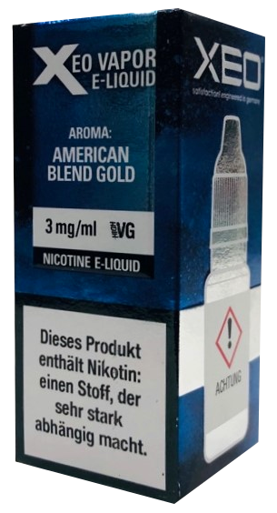 Xeo - American Blend Gold 3mg - 10ml