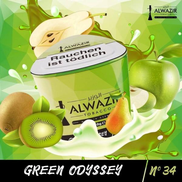 Al WAZIR Tobacco Green Odyssee N34 -250g