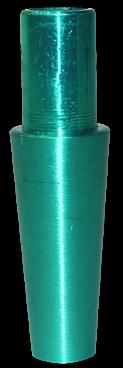 Schlauch-Anschlussstück (Alu) - Grün