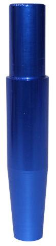 Schlauch-Anschlussstück (Alu) - Blau