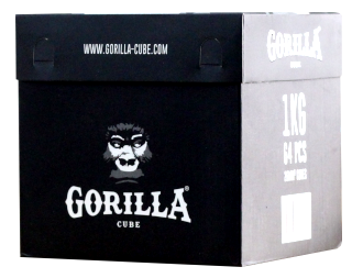 Gorilla Cube - 1kg - Naturkohle