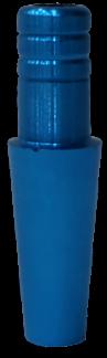 Schlauch-Anschlussstück (Alu) - Skyblau
