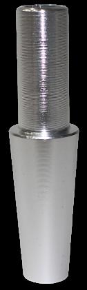 Schlauch-Anschlussstück (Alu) - Silber