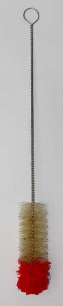 Bürste - mit Wollkopf - 50cm - Rot