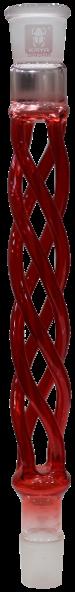 Kaya - Rauchsäule - Curly Glas - Rot - 29/2