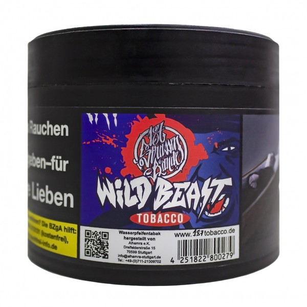 187 Tobacco Wild Beast 200g