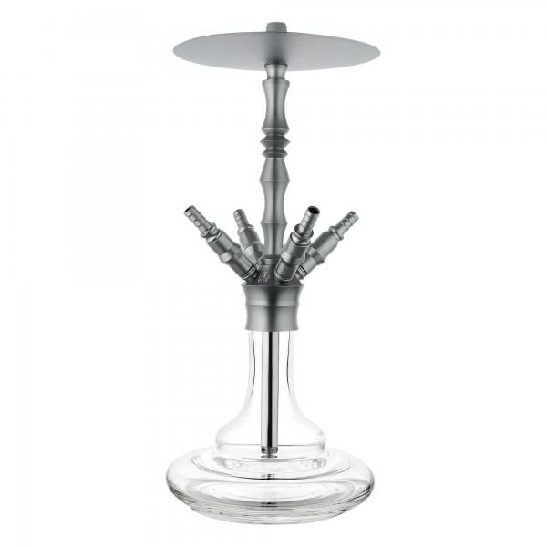 Chill Hookah - Odyssey Aluminium - grau - Komplett-Set